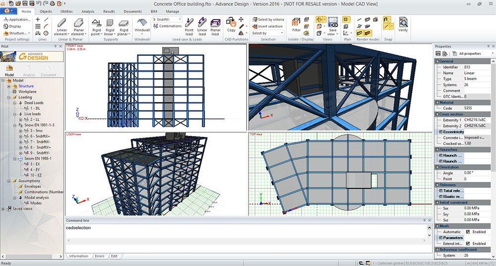 GRAITEC Advance Design | Łatwe i szybkie modelowanie